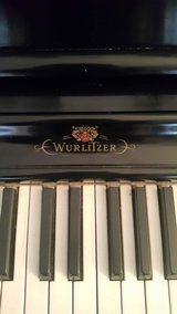 Wurlitzer Piano and Piano Bench  in Excellent Condition Serial Number Dates To Over 60 Years Old in Oswego, Illinois