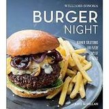 "William Sonoma hardcover cookbooks ""Burger Night"" & ""Taco Night""    never used in Chicago, Illinois"