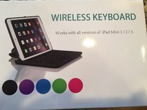 Wireless Keyboard for all versions of iPad Mini - Blue in Oswego, Illinois