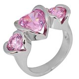 New - Pink Sapphire Heart Ring - Sizes 6 and 8 in Alamogordo, New Mexico