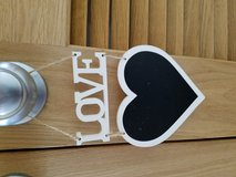 Love and heart shape decor sign in Okinawa, Japan