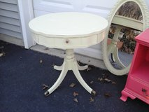 Shabby chic pedestal table in Naperville, Illinois