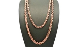 """***BRAND NEW***14K Rose Gold Plated Rope Chain Necklace***18"""" in Houston, Texas"""