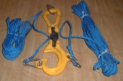 LIFTING HOOK WITH 2 MAN GUIDE ROPES SWL 1TON in Lakenheath, UK