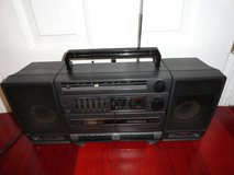 VINTAGE GE 3-5697A PORTABLE COMPONENT STEREO SYSTEM BOOMBOX in Travis AFB, California