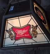 Miller High Life hanging bar light in Chicago, Illinois