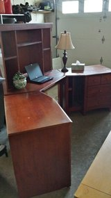 Liberty office furniture, computer desk, hutch and 2 side units - cherry in Aurora, Illinois
