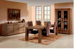 Alberta - China Cabinet + Table 180cm + 4 Chairs see VERY IMPORTANT below in Spangdahlem, Germany