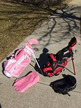 2 Kids 3 pc Golf Club Sets with Bags in Naperville, Illinois