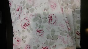 Pink floral sheets or curtains in Alamogordo, New Mexico