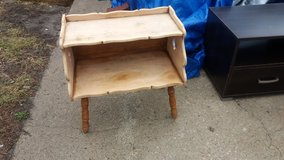 Small wood table in Fort Riley, Kansas