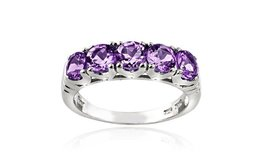 ***REDUCED****BRAND NEW***1.25 CTTW Amethyst Half-Eternity Ring in Sterling Silver****SZ 6 in Kingwood, Texas