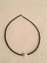 large pearl on crystal chain necklace in Kingwood, Texas