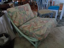 BAMBOO LOUNGE CHAIR LIKE NEW CUSHIONS in Wilmington, North Carolina