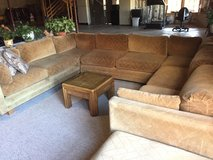 3pcs tan couches with extensions in Aurora, Illinois