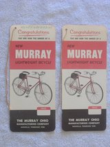 Vintage MURRAY Bicycle Dealer Tags in 29 Palms, California