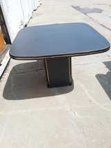 Black table and chairs in Fort Riley, Kansas