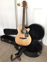 NEW Fender GC-140SCE Grand Concert Acoustic-Electric Cutaway GUITAR, HARD CASE & STRAP in Yorkville, Illinois