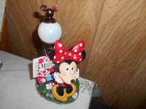 "New Disney MINNIE MOUSE Solar Powered Garden Statue!  10"" tall  MINT with Tags in Spring, Texas"