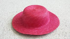 Fuschia Pink Straw Hat Sz 4-6x in Naperville, Illinois