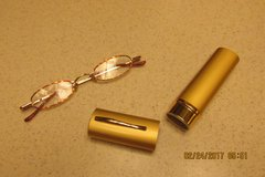 """Ladies New Pair """"Reader's Glasses"""" In Trimline Case - +2.50 Magnification in Houston, Texas"""