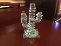 5 1/2 in tall Saguaro Cactus Stacked Glass in Kingwood, Texas