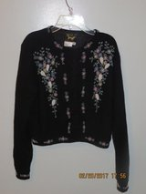 Vintage Beaded Black Lambswool and Angora Sweater by I DID IT by Mathew H. U.S.A. in Joliet, Illinois