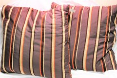 "2 Feather Down Pillows by Fashion Brown Maroon Orange Tan Cream Beige 18"" in Houston, Texas"