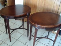 Pair of 1930's Sheraton Marquetry End Tables in Orland Park, Illinois