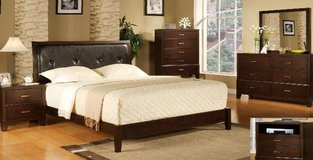 Wood Bedroom Set - New in Box - Queen size in Fort Bragg, North Carolina