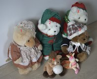 Group of decorative stuffed animals in Ansbach, Germany