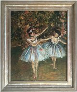 Ballet Dancers (1981) by Michelle Ansor (Original Oil Painting) in Lakenheath, UK