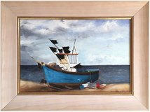 Fishing Boat, Lowestoft (1994) by Alannah Wilkins (Original Acrylic Painting) in Lakenheath, UK