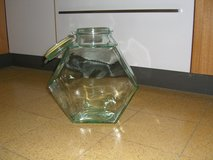 Green recycled glass container in Fairfax, Virginia