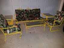 New Orleans Yellow  Woodard / Wrought Iron 6 Piece Patio Set in Fort Campbell, Kentucky