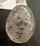 Faberge Crystal Etched, Signed and Numbered Egg Paperweight in Ramstein, Germany