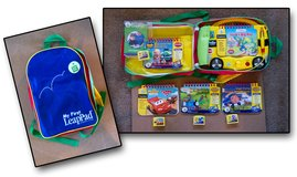 My First LeapPad (Yellow School Bus) w/ Backpack & 4 extra cartridges/books in Oswego, Illinois