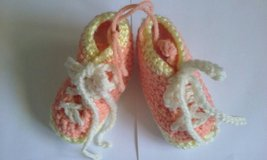 crochet orange & yellow bootie in Elgin, Illinois