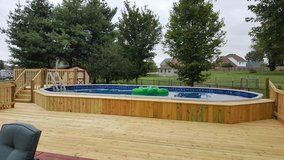 walls lawncare and more. Swimming pool deck in Clarksville, Tennessee