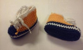crochet bootie blue orange in Elgin, Illinois