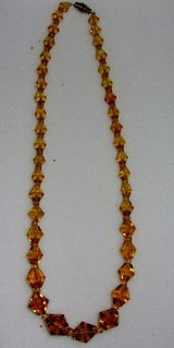 1940's Amber Crystal Necklace in Schaumburg, Illinois