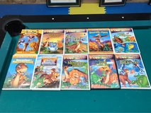 Set of 10 Land Before Time  Dinosaur DVDs in Lockport, Illinois