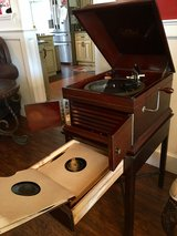 Antique Victrola Record Player With 12 Records in Camp Lejeune, North Carolina