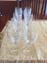 Ten crystal etched wine glasses in Naperville, Illinois