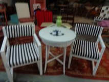 BISTRO TABLE 2/CHAIRS 26 BY 2 DIAMETER TOP OF TABLE NAUTICAL in Wilmington, North Carolina