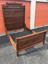 1800's Crotch Walnut Victorian High Back Bed in Cherry Point, North Carolina