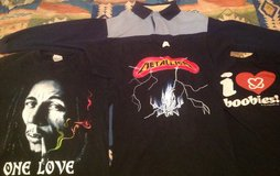 3 t-shirts, 1 long sleeve- Men's Small in Yucca Valley, California