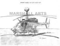 OH-58D Print in Fort Rucker, Alabama