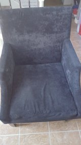 """Black Suede Accent Chair 27""""×41"""" in Spring, Texas"""