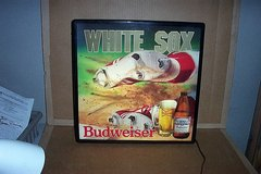 BUDWEISER CHICAGO WHITE SOX SLIDE IN MOTION BAR  SIGN in Naperville, Illinois